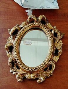 VINTAGE CARVED WOOD ITALIAN ROCOCO WALL MIRROR HOLLYWOOD REGENCY