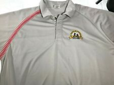 Cooperstown All Star Village Short Sleeve Polo Shirt Size XXL Grey Red