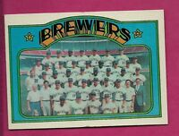 1972 TOPPS # 106  BREWERS TEAM PHOTO EX-MT CARD (INV# A3309)
