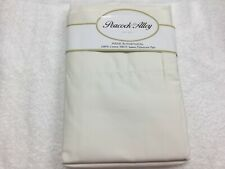 Peacock Alley Pair Ivory Standard Pillowcases 500TC Sateen 100% Cotton Portugal