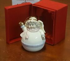 NIB Madison & Max Porcelain Roly Poly Angel Bell Ornament Bon-ton exclusive