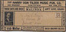1910s Illust'd Music Co Packing Label from NYC to Everett, MA (NY, NY Precancel)