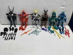 Ronin Warriors 1996 Vintage W/ Accessories Strong Joints Playmates Group Of 6