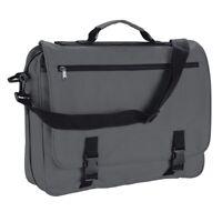 Grey Messenger Satchel Briefcase Work College School Utility Shoulder Bag