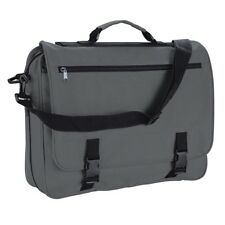 Grey Messenger Satchel Briefcase Work College School Utility Shoulder Bag