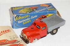 Vieux Schuco Auto Jouets en Tôle Schuco 3042 Varianto Camion Lasto Rouge Camion