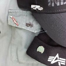 Alpha Industries Pin Set 4 pezzi spilla-Set KEYHOLDER logo HUMMER ma-1 NUOVO