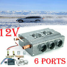 12V 6 Vent Universal Car Truck Variable Speed Hydronic Compact Heater Defroster