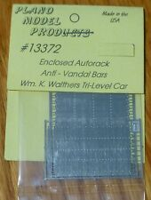 Plano Model Products HO #13372 Details for: Enclosed Autorack Anti-Vandal Bars S