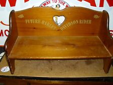 VINTAGE HARLEY-DAVIDSON, CHILDREN'S WOODEN BENCH, GENUINE H-D RARE COLLECTIBLE.#