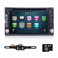 Hizpo GPS Navi HD Double 2DIN Car Stereo DVD Player Bluetooth iPod MP3 TV+Camera