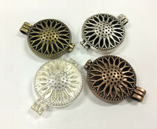 4PCS Plated Color Locket-Essential Oil Aromatherapy Diffuser Necklace Pendants