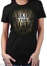 T-Shirt femme MC BIKER FOR LIFE - Taille S - Style BIKER HARLEY