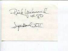 Rick Upchurch Denver Broncos Minnesota Golden Gophers Star Signed Autograph