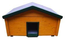 Outdoor Katzenhaus wetterfest Landhaus mit Katzenklappe - KS1-L