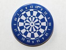 "DARTBOARD BLUE - Pinback Button Badge 1.5"" Darts"