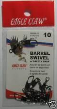 EAGLE CLAW 01042-010 BARREL SWIVEL SZ10 W/SAFETY BLK