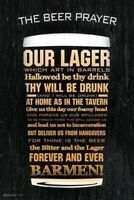 THE BEER PRAYER ~ OUR LAGER WHICH ART IN BARRELS ~ 24x36 MAN CAVE POSTER!
