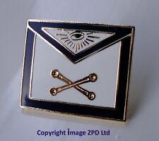 Freemason Masonic Apron Enamel Lapel Pin Badge Marshal