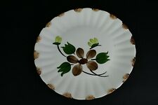 Blue Ridge Southern Potteries Hand Painted Underglaze Ivory & Brown Decor Plate