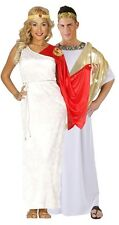 Couples Ladies & Mens Ancient Roman Toga Caesar Maxi Fancy Dress Costumes Large
