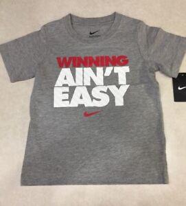 NIKE Dark Grey Heather Short Sleeve Little Kid's Tee Shirt~~Size 6