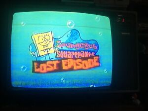 Nick Nickelodeon VHS SOLD AS BLANK Sponge Bob Lost Episode Broadcast Rugrats
