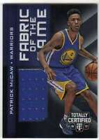 2016-17 Panini Totally Certified Fabric of the Game Rookies Jersey Patrick McCaw