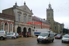 PHOTO  2006 BLANDFORD FORUM TOWN HALL & PARISH CHURCH. A WET NOVEMBER DAY JUST A