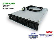 APC SMT2200RM2U Smart-UPS 2200VA 2U LCD 120V New Batt