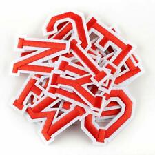 Red Letter Patch Patches Sew on / Iron on Alphabet Embroidered Clothes Letters