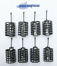 MDI Match 25g Square Cage Metal Open-end Feeders Pack of 8 (Size 7.5x3x2.5cm)