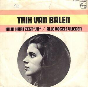 """TRIX VAN BALEN - MIJN HART ZEGT """"JA"""" (ZELDAME 1967 VINYL PIRATENSINGLE 7"""")"""