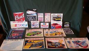 LOT OF 21 Vintage NASCAR DECALS