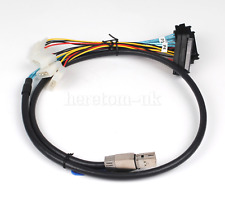 3.3Ft Internal HD Mini SAS SFF-8644 to 4 x SFF-8482 Cable with SATA Power 100cm