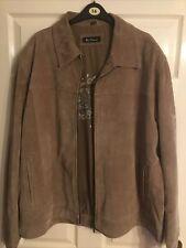 Mens Ben Sherman Tan Leather Jacket Size 2XL