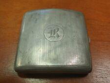 Vintage Solid Sterling Cigarette Case Holder Art Deco!! 126 Grams