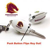 Brisbane Broncos NRL FLIP House Key Blank -IN STOCK NOW! Free Postage