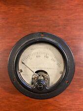 Vtg Weston Electrical Instrument Gauge Meter Model 301 MILLIAMMETER -Gold Face