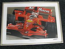 Litho Marlboro Ferrari F2007 2007 #6 Kimi Raikkonen (FIN) by G.W. Lubach Framed