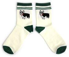 Donna Carino Bulldog Francese Verde tagliati Calzini UK 4-8 EUR 37-42 USA 6-10