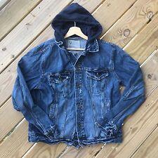 Men's Size Large American Eagle Denim Jacket EUC Jean Jeans Blue