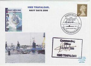GB Stamps Navy Souvenir Cover HMS Trafalgar & Devonport Navy Day, signed 2006