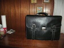 ALESSANDRO VENANZI' PEBBLE LEATHER BRIEFCASE color black style #9962 BRAND NEW