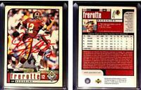 Gus Frerotte Signed 1998 UD Choice #186 Card Washington Redskins Auto Autograph