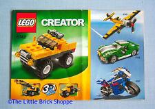 Lego Creator 6742 Mini Off-Roader - INSTRUCTION BOOK ONLY - No Lego bricks