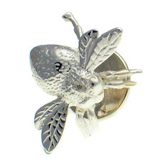 Sterling 925 British Silver Unisex Lapel Pin Stud Brooch Queen Bee Bumblebee