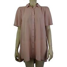 Unbranded Women's No Pattern Chiffon Short Sleeve Sleeve Tops & Shirts