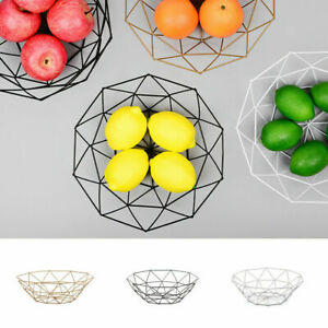 Iron Wire Fruit Bowls Kitchen Food Storage Basket Living Room Kitchen Countertop