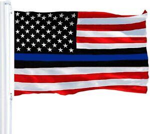 Blue Lives Matter Flag Red White Black 150D polyester